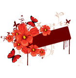 Red flowers. Abstract red flowers illustration background Royalty Free Stock Images