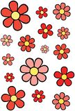 Red flowers. Many red flowers over white background vector illustration Stock Images