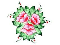 Red flowers. Russian folk design. Scan of original design (I'm creator royalty free illustration