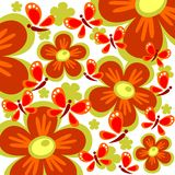 Red flowers background Royalty Free Stock Photo