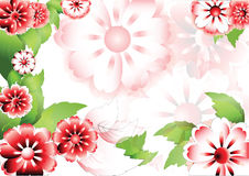 Red flowers background with space for text2 Royalty Free Stock Images