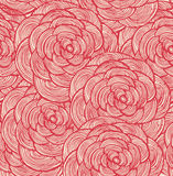 Red flowers background. Vector pattern Stock Image