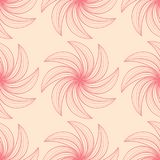 Red flowers on beige background. Ornamental seamless pattern. For textile and wallpapers Royalty Free Stock Images
