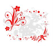 Red flowers border Stock Images