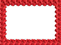 Red flowers frame. Isolated on a white background Royalty Free Stock Photo