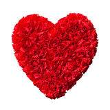 Red flowers heart Royalty Free Stock Photography