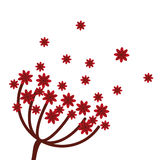 Red flowers icon. Flat design red flowers icon  illustration Royalty Free Stock Photo