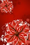 Red Flowers Illustration Royalty Free Stock Photos