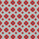 Red flowers illustration multipurpose and seamless design royalty free stock photography