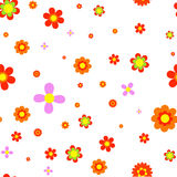 Red flowers jointless pattern. Jointless pattern from different colored Royalty Free Stock Photo