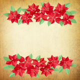 Red flowers made of paper on paper textures - perfect background Royalty Free Stock Image