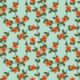 Red flowers pattern Royalty Free Stock Images