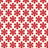 Red flowers pattern vector background Stock Photo
