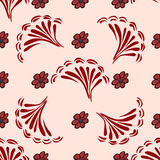Red flowers on a pink background seamless pattern background Royalty Free Stock Images