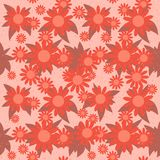 Red Flowers Seamless Stock Photography