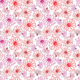 Red flowers seamless pattern. Stock Photo