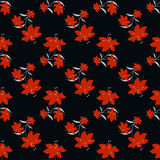 Red flowers seamless vector pattern Stock Photography