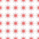 Red flowers tracery. Red abstract flowers regular tracery on a light backgtround Royalty Free Stock Images