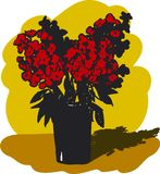 Red flowers in a vase Royalty Free Stock Photo