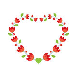 Red Flowers Wreath Royalty Free Stock Photos