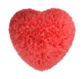Red fluffy heart. Stock Photos