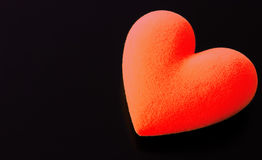 Red fluffy heart Stock Photography
