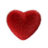 Red fluffy heart royalty free stock photography