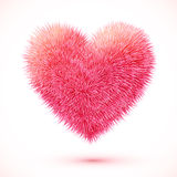 Red fluffy vector heart Stock Photography