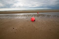 The red fluorescent buoy Royalty Free Stock Images
