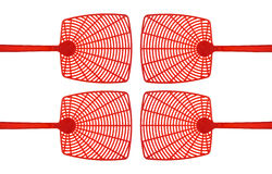 Red fly swatters Royalty Free Stock Photos