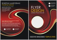 Red Flyer template. Brochure design. A4 size Stock Photos