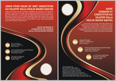 Red Flyer template. Brochure design. A4 size Royalty Free Stock Images