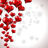 Red Flying Heart Background Stock Photography