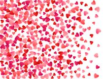 Red flying hearts bright love passion vector background. Stock Photos