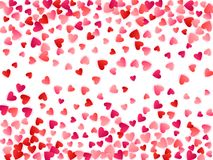 Red flying hearts bright love passion vector background stock photo