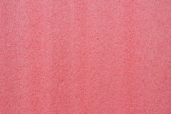 Red foam. Plastic texture background Stock Photo