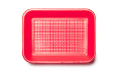 Red Foam Tray Royalty Free Stock Photos