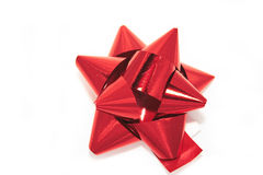 Red foil bow Royalty Free Stock Photo