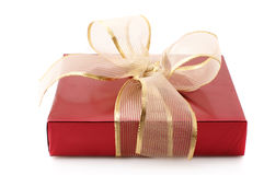 Red foil gift Royalty Free Stock Images