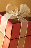 Red foil gift Stock Image
