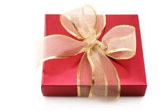Red foil gift Royalty Free Stock Photos