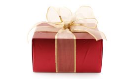 Red foil gift Stock Images