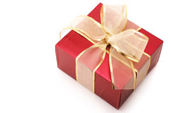 Red foil gift Royalty Free Stock Photography