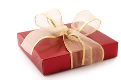 Red foil gift Royalty Free Stock Image