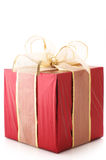 Red foil gift Royalty Free Stock Photo