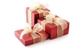 Red foil gifts Stock Image