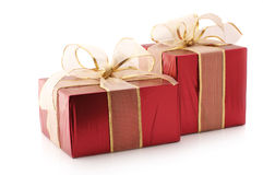 Red foil gifts Stock Images