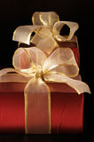 Red foil gifts Royalty Free Stock Images