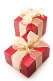 Red foil gifts Stock Photography