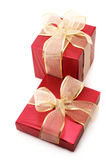 Red foil gifts Stock Photo
